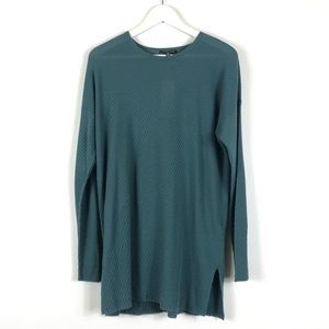 EILEEN FISHER Round Neck Tunic Tencel Teal XS NWT